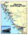 Cruise Map to Vancouver to Glacier Bay Zuiderdam Alaska Cruise 13 Sept 2012