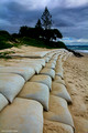 New Sandbag Revetment Near Beaumont's Hotel, Belongil Beach, Byron Bay, North Coast, NSW - 22nd April 2013