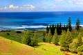 Looking Across Kingston Cemetary to Swells off Cemetary Beach, Norfolk Island