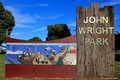 Mosaic at the Entrance to John Wright Park, Tuncurry, NSW