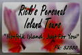 Rick's Personal Island Tours Sign