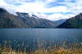 Looking Over Lake Wakatipu to Cecil Walters Peaks, Queenstown, New Zealand