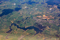 Flying Over Oberon and Lake Oberon/Oberon Dam - Sydney to Adelaide Flight