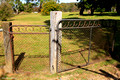 Old Gate at Blessed Mary MacKillop Catholic Church, Wattle Flat, Central West, NSW