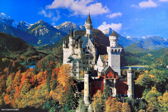 Souvenier Postcard - Neuschwanstein Castle, Bavaria, Germany