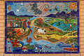 Rural Tile Mural, Gloucester Public Toilets,  Gloucester, Mid North Coast, NSW