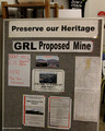 Preserve Our Heritage - Sign Board Registering Opposition to the GRL Proposed Rocky Hill Mine - Gloucester, NSW