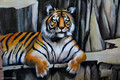 Tiger Mural, Crystal Castle, Mullumbimby, North Coast, NSW