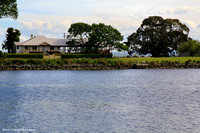 Dumaresq Island House From River Side Park, Cundletown, NSW